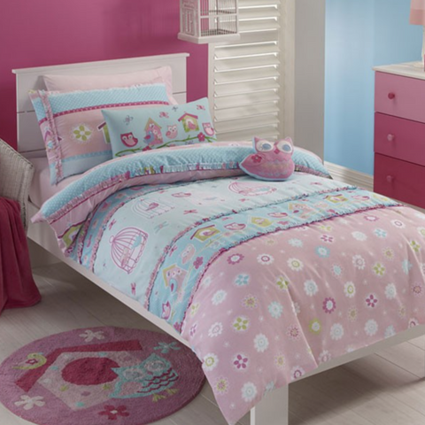 Birdcage Kids Jiggle Giggle Single Bed Girls Quilt Cover Set