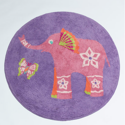 Peacock Princess Kids Elephant Floor Rug