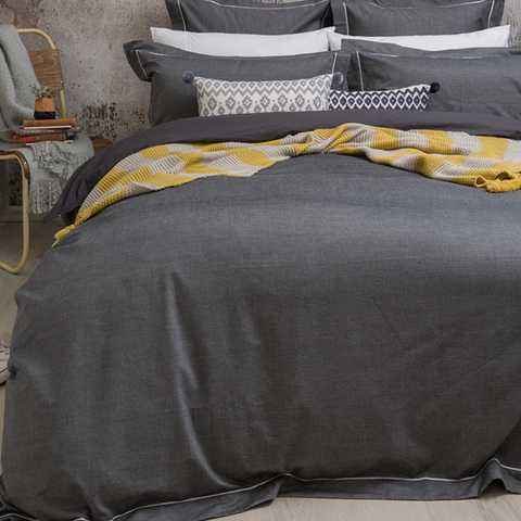Charleston Quilt Cover Set in Charcoal