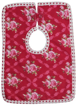 Scarlet Floral Baby Bibs set of Three