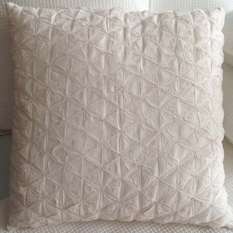 Ivory Smocked European Pillow Case
