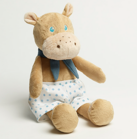 Baby Plush Large Blue Hippo Toy