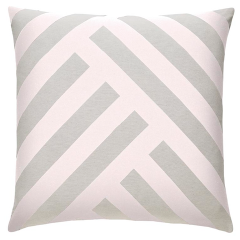 Monochrome European Pillow Case in Blush