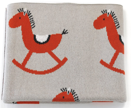 Baby Boys Girls Rocking Horse Blanket