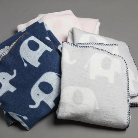 Baby Fleece Pram Elephant Blanket