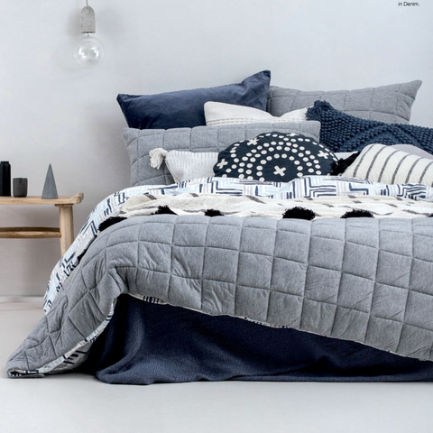 Fletcher Quilt Cover Set in Grey Sale
