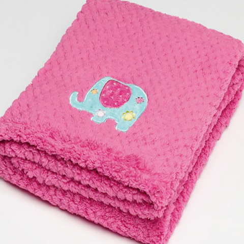 Pink Elephant Fleece Baby Blanket Sale