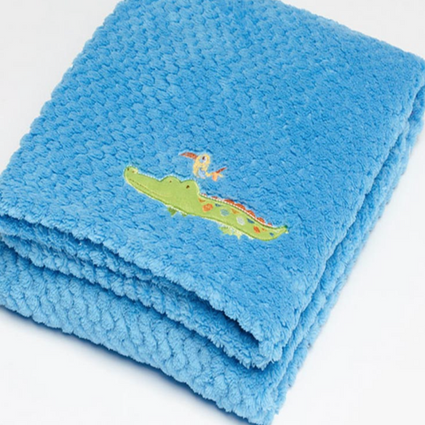 Blue Fleece Baby Blanket Sale
