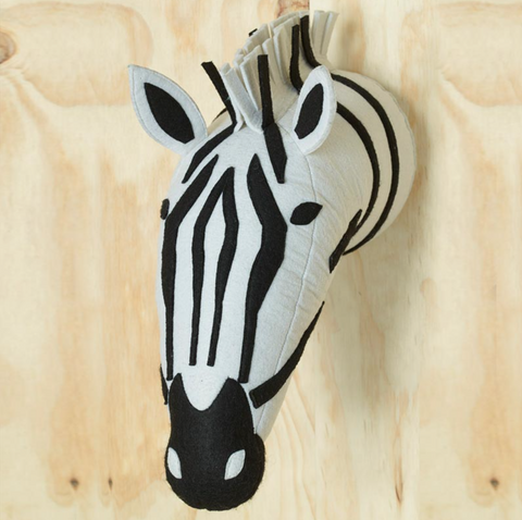 In The Woods Felt Zebra Wall Art