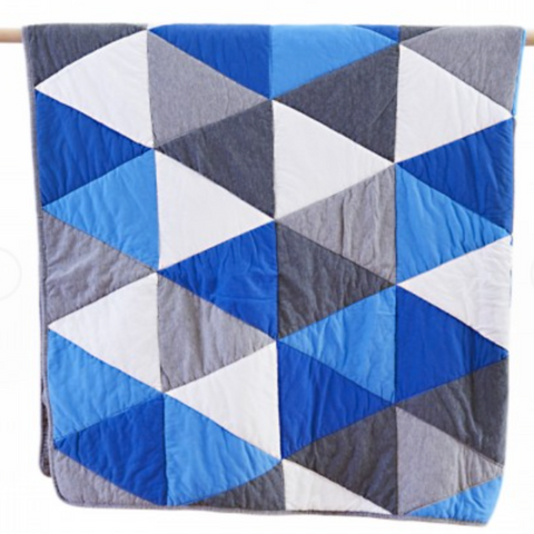 Leo Cotton Quilted Jersey Throw Rug