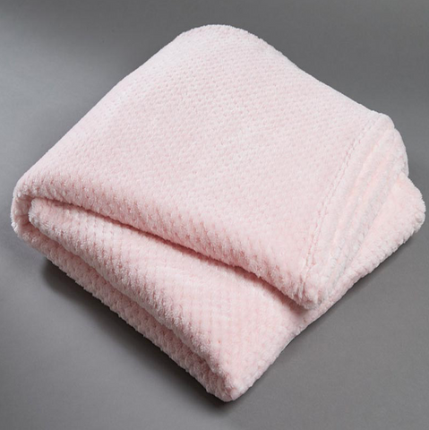 Girls Soft Pink Fleece Popcorn Throw Rug