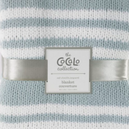 Cocalo Chenille Knit Baby Blanket in Blue