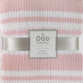 Cocalo Chenille Knit Baby Blanket in Pink