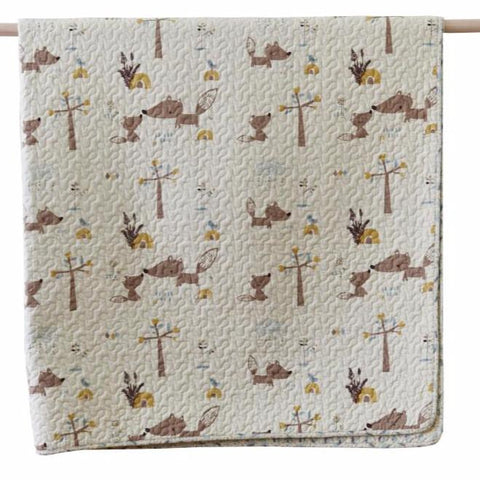 Squirrel Cotton Quilted Throw Rug