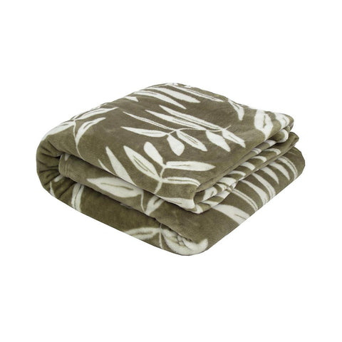 Hakeu Ultra Plush Olive Bambury Blanket