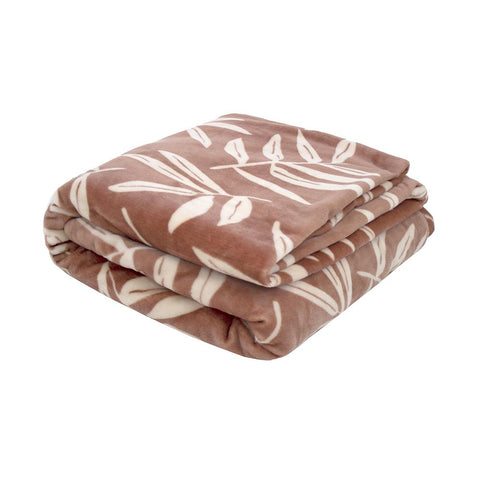 Hakeu Ultra Plush Woodrose Bambury Blanket