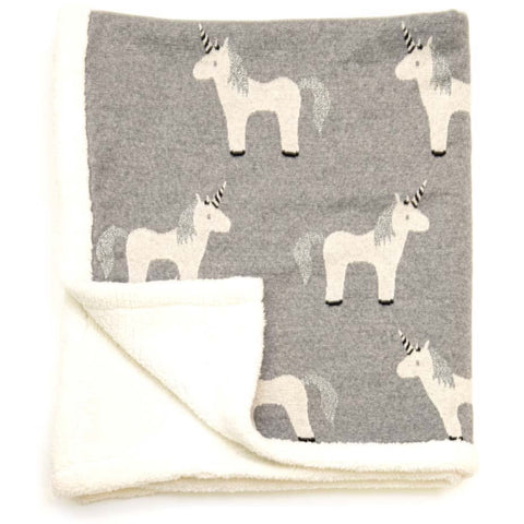 Unicorn Sherpa Fleece Baby Blanket