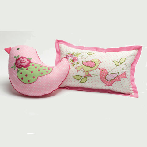 Shabby Chic Rectangle or Bird Shaped Cushion