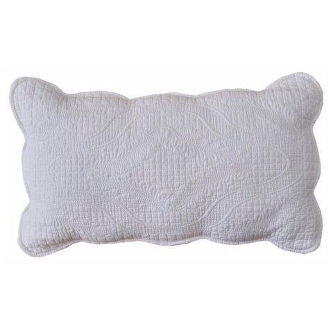 Shelbourne Rectangle Decorator Cushion in White