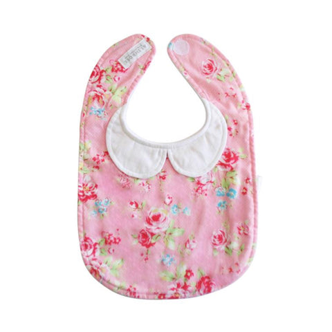 Peter Pan Collar Bib in Pink Floral