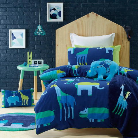 Animal Patch Kids Jiggle Giggle Quilt Cover Set Sale