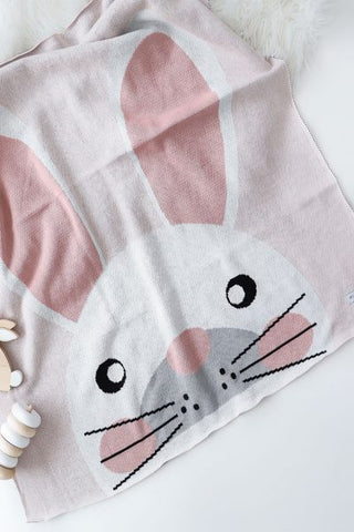 Big Bunny Premium Cotton Baby Blanket Gift Boxed