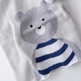 Big Teddy Bear Premium Cotton Baby Blanket Gift Boxed