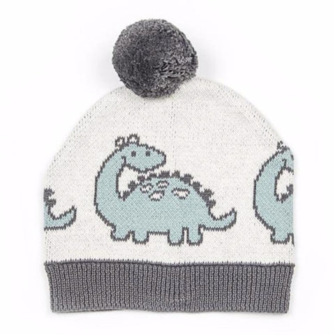 Indus Design Dino Dinosaur Cotton Knit Baby Hat Beanie