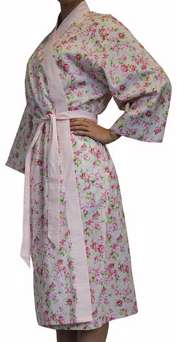 Grace Pink Floral Bathrobe