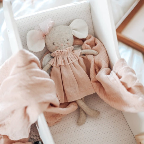 Angel Baby Pink & Silver Mouse Doll