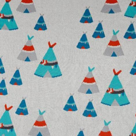 Baby Cotton Knit Teepee Pram Cot Blanket