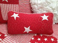Lachlan Cotton Rectangle Decorator Cushion in Red