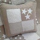 Lachlan Cotton Square Cushion Cover in Natural