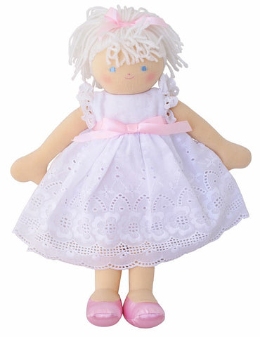 Ava Children's Doll with White Broderie Alimrose Nursery Decor