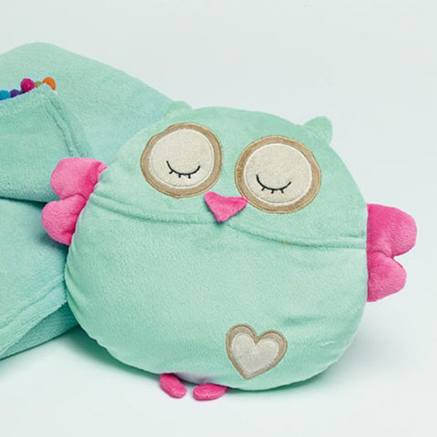 Peacock Princess Owl Cushion