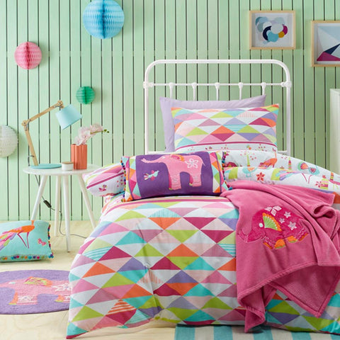 Peacock Princess Quilt Cover Set Jiggle Giggle Kids Sale