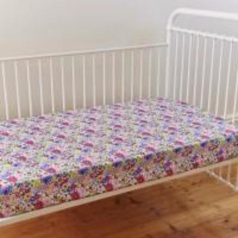 Primrose Cotton Floral Fitted Cot Sheet