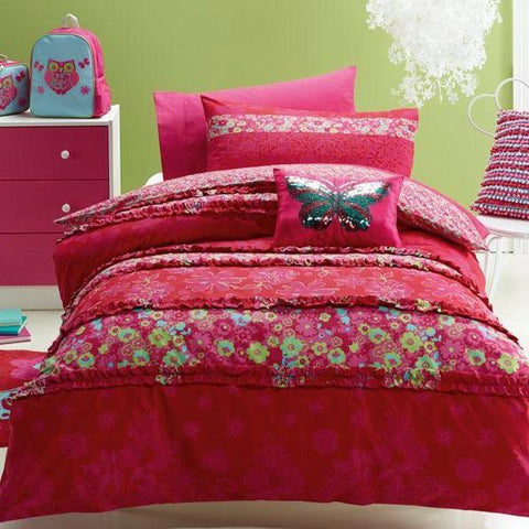 Katrina Butterfly Kids Quilt Cover Set Jiggle Giggle Sale