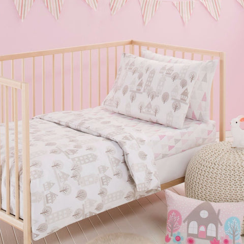 Priya Cot Quilt Cover, Pillow Case & Wool Quilt Baby Bedding Set