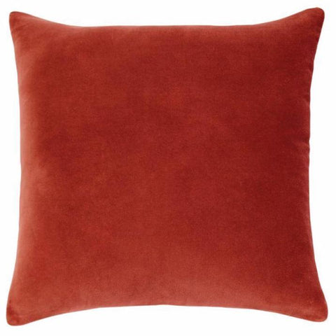 Lewis Velvet Red Brick Filled Square Cushion