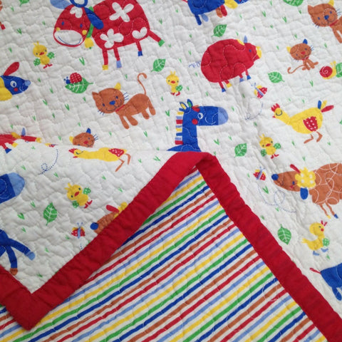 Kids Nursery Farmyard Throw Rug