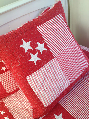 Large Filled Lachlan Red Square Cushion 50cm