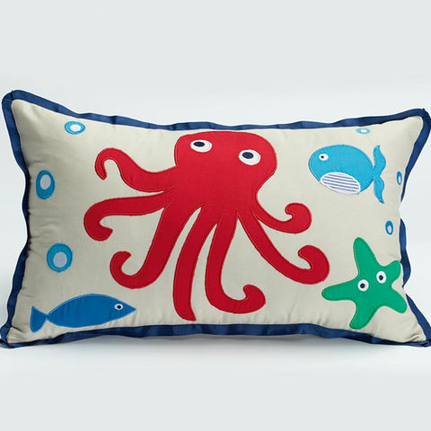 Sea Creatures Rectangle Cushion