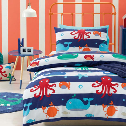 Sea Creatures Boys Quilt Cover Set Jiggle Giggle Sale