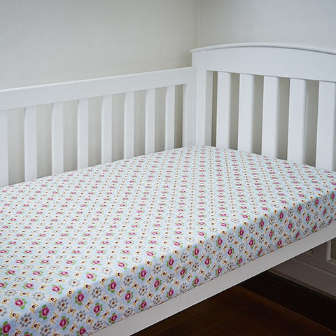 Stella Floral Fitted Cot Sheet