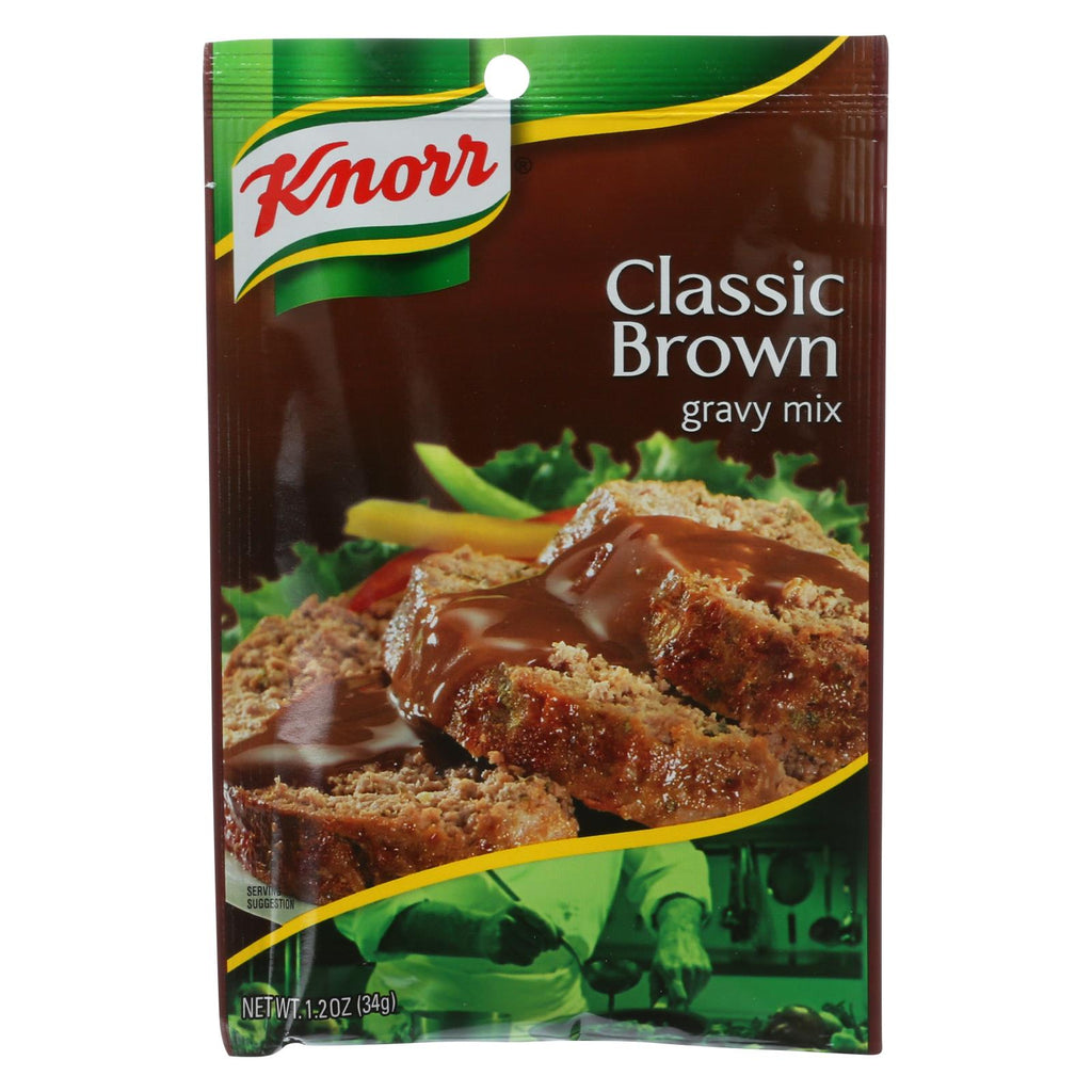 Knorr Gravy Mix - Classic Brown - 1.2 Oz - Case Of 12