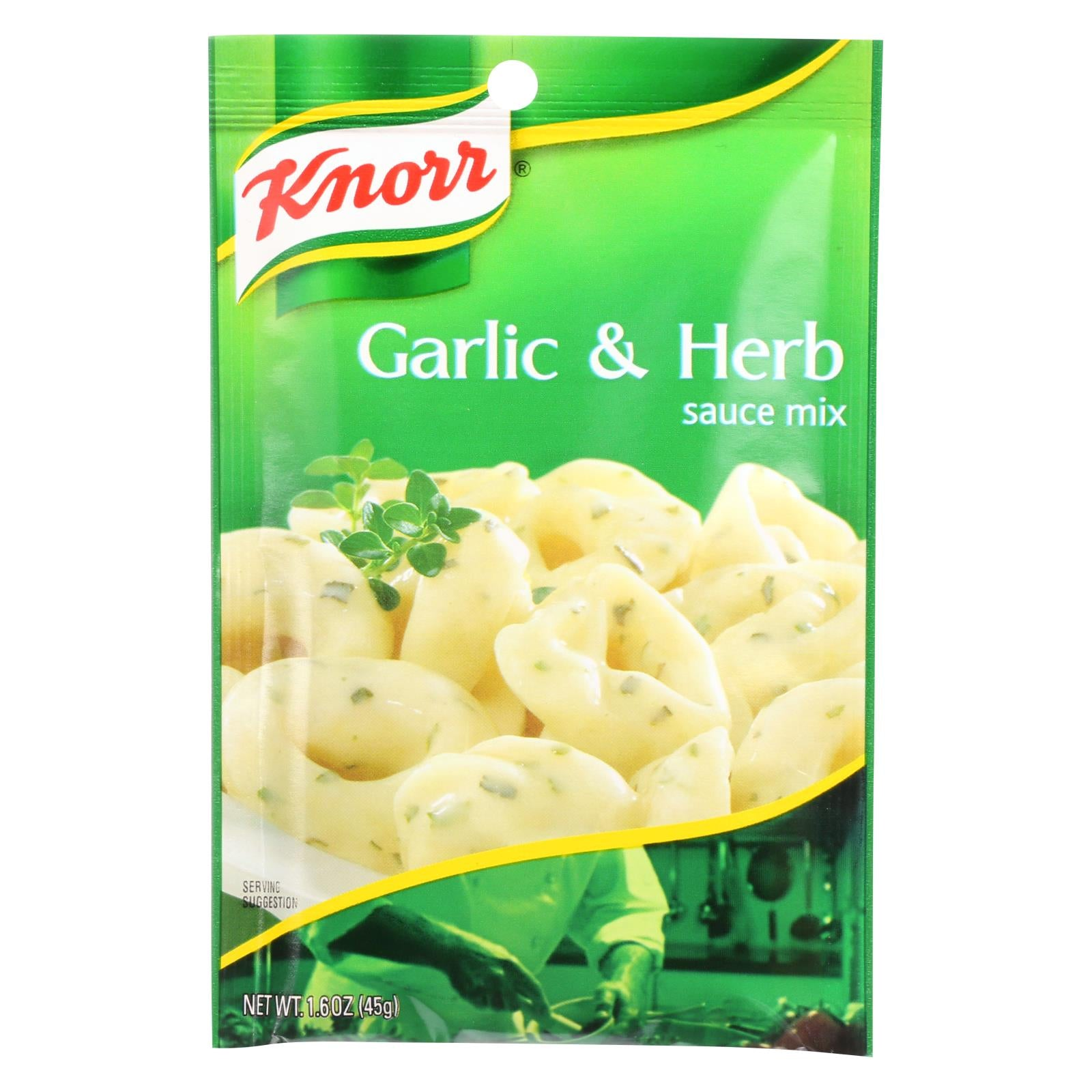 Knorr Sauce Mix - Garlic And Herb - 1.6 Oz - Case Of 12 HG0101089