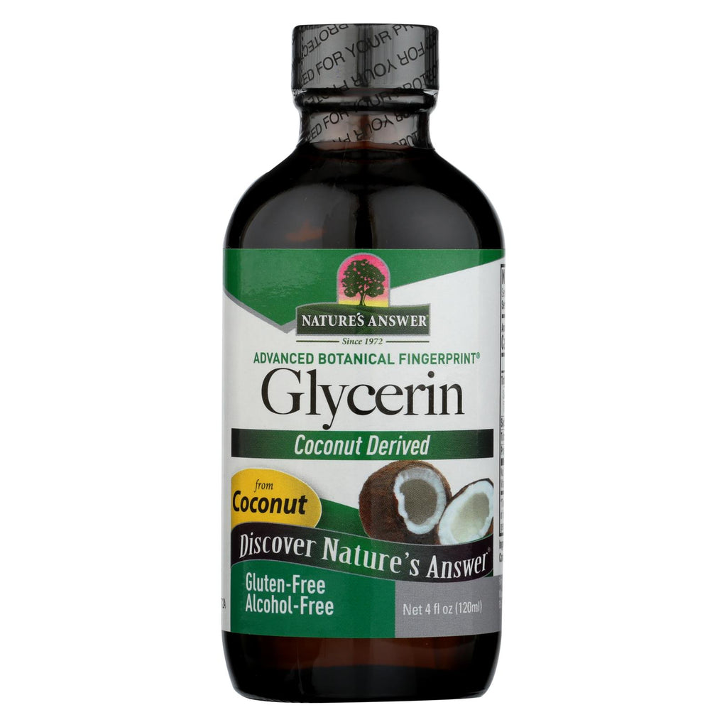Nature's Answer - Pure Vegetable Glycerin Alcohol Free - 4 Fl Oz