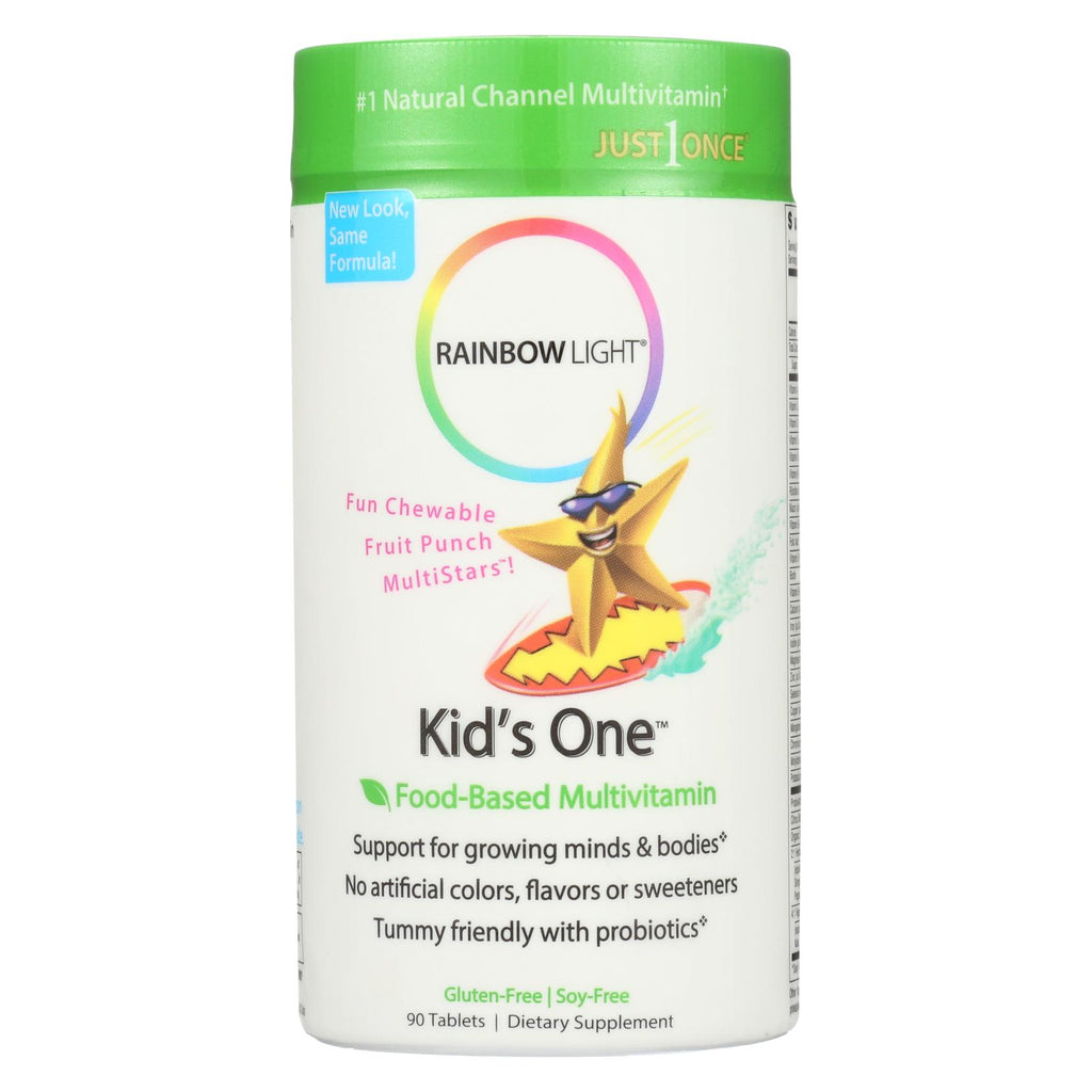 Rainbow Light Kids' One Multistars Fruit Punch - 90 Chewable Tablets