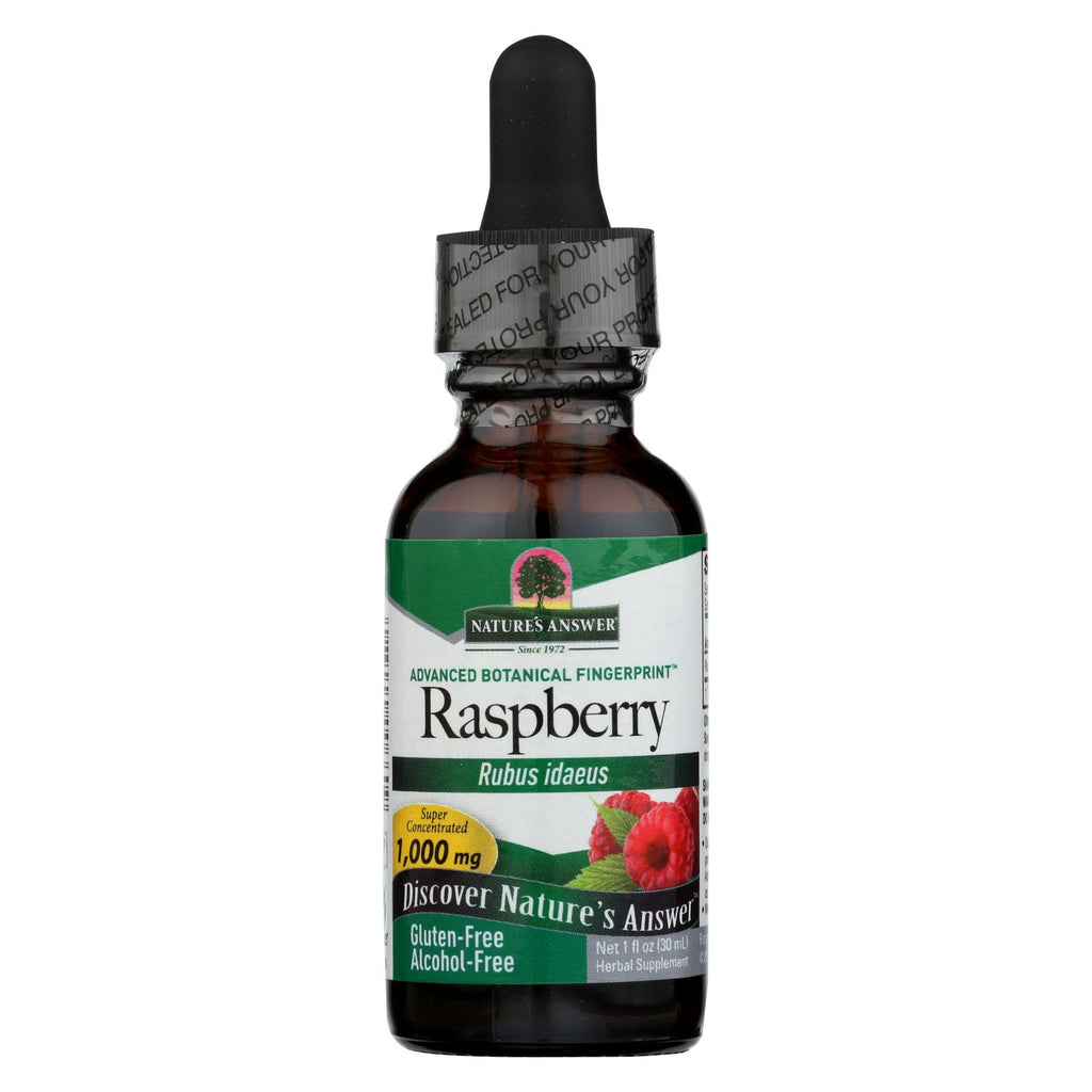 Nature's Answer - Raspberry Leaf Alcohol Free - 1 Fl Oz